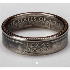 Jewelry - NWOT Etsy boutique Texas quarter state ring